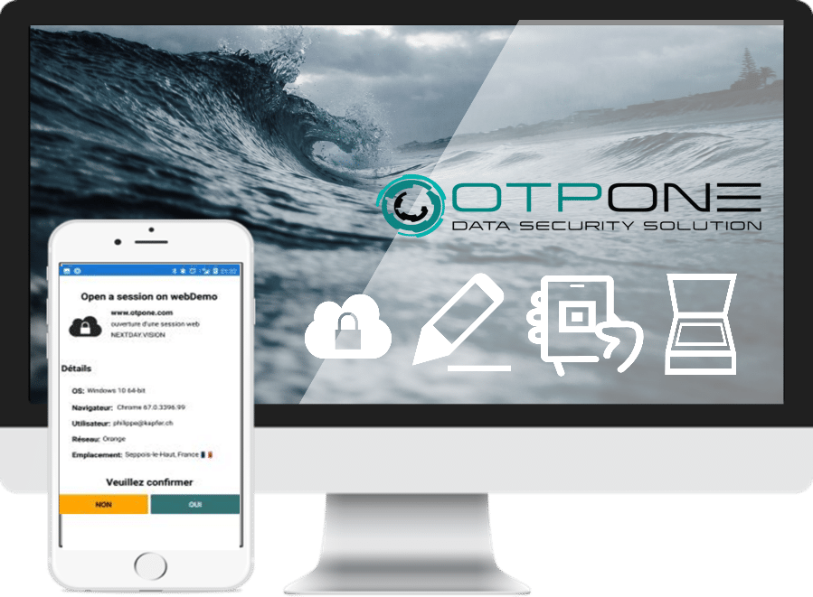 Optone data security solution API transparent.