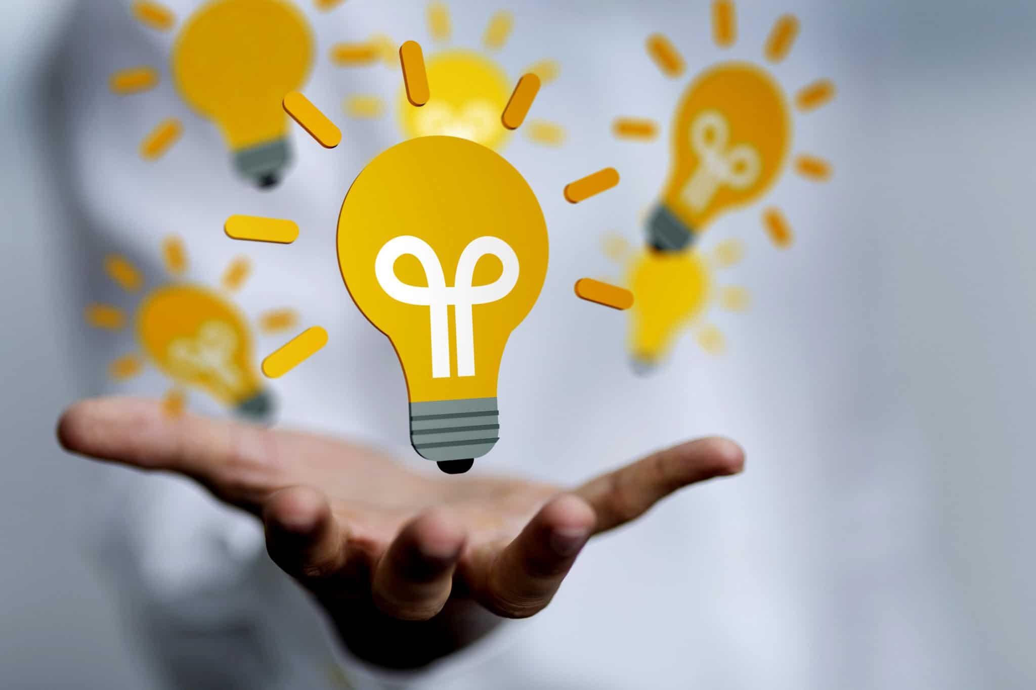 Logo idée avec une ampoule.