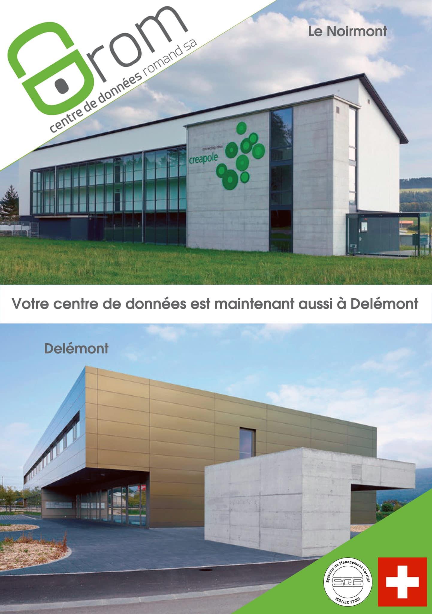 Publicité pour l'entreprise de centre de données CDROM.